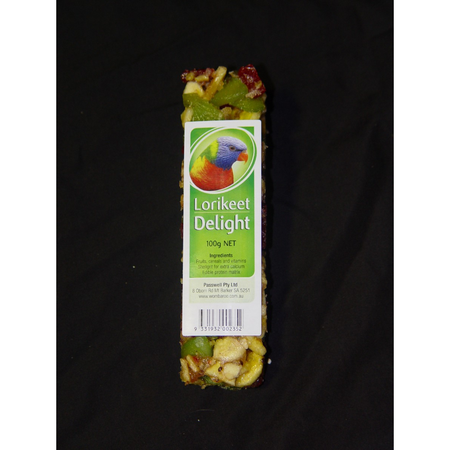 Wombaroo Avian Delight Bar - Lorikeet 100gm