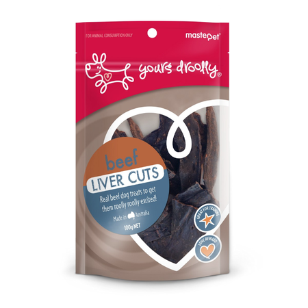 Yours Droolly Beef Liver Cuts 100g