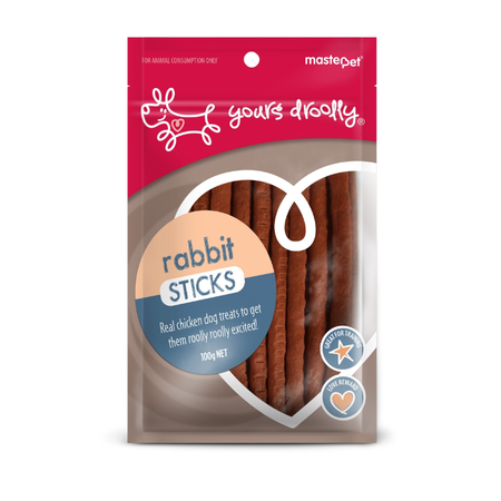 Yours Droolly Rabbit Sticks 100g