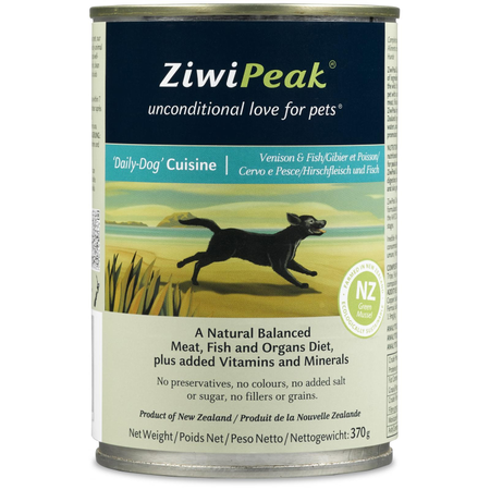 ZiwiPeak Daily-Dog Cuisine - Venison & Fish 370g can