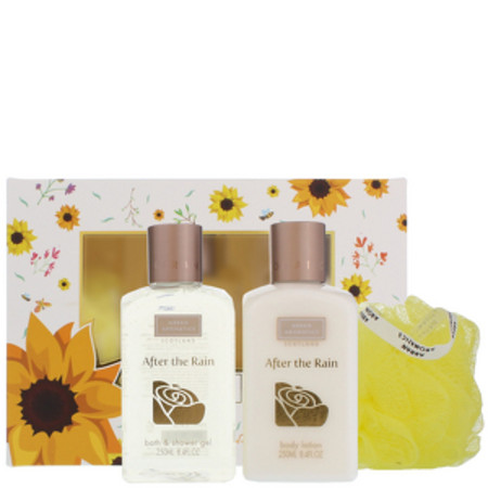 Arran Aromatics After the Rain Two is Better Then One - Bath and Shower gel 250ml, Body Lotion 250ml and Body Polisher