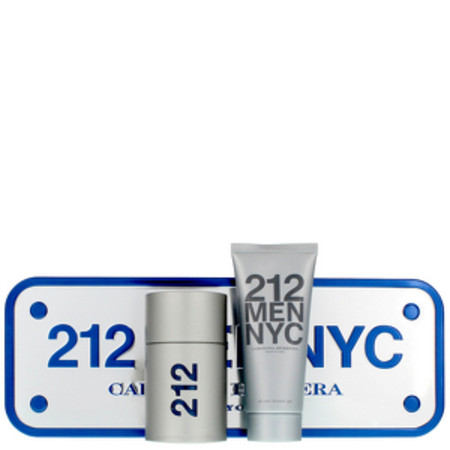 Carolina Herrera 212 Men NYC Eau de Toilette 50ml and Shower Gel 100ml
