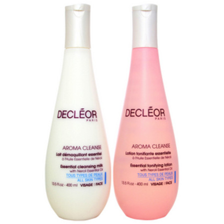 Decleor Aroma Cleanse Face Duo - Essential Cleansing Milk 400ml and Essential Tonifying Lotion 400ml