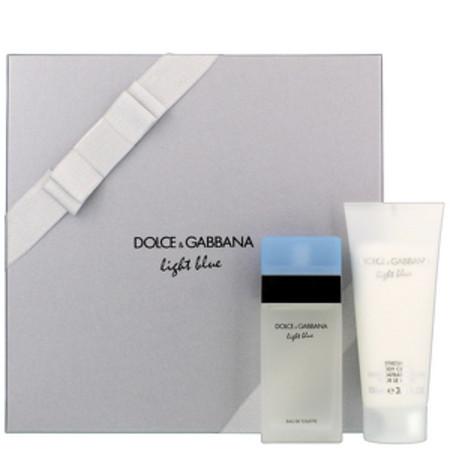 Dolce and Gabbana Light Blue 50ml Eau de Toilette Spray, and 50ml Body Cream