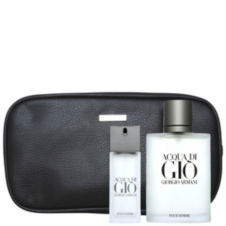 Giorgio Armani Acqua Di Gio Men Eau de Toilette Spray 100ml, Eau de Toilette 20ml and Wash Bag