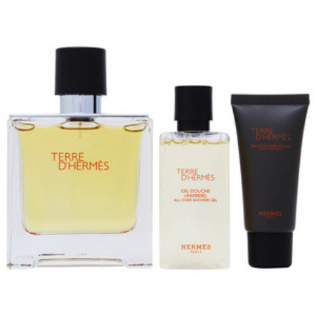 Hermes Terre D'Hermes Pure Perfume Natural Spray 75ml, Shower Gel 40ml and Aftershave Balm 15ml