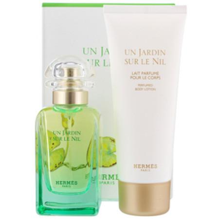 Hermes Un Jardin Sur Le Nil Eau de Toilette 50ml and Body Lotion 75ml