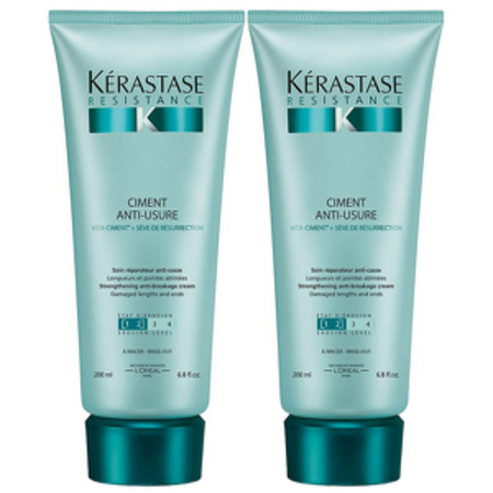 Kerastase Resistance Duo Pack: Ciment Anti-Usure For Chemically or Naturally Weak Hair 200ml x 2