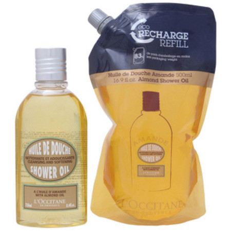 L'Occitane Almond Shower Oil 250ml and Refill 500ml