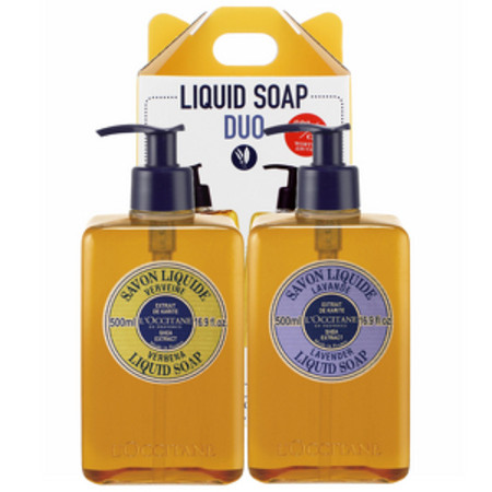 L'Occitane Gifts Liquid Soap Duo - Shea Butter Verbena Liquid Soap 500ml and Shea Butter Lavender Liquid Soap 500ml