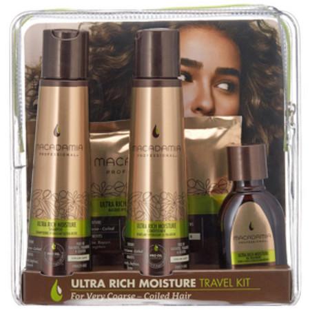 Macadamia Professional Gift Sets Ultra Rich Moisture Shampoo 100, Ultra Rich Moisture Conditioner 100, Ultra Rich Moisture Oil Treatment 30ml and Ultra Rich Moisture Masque 30ml