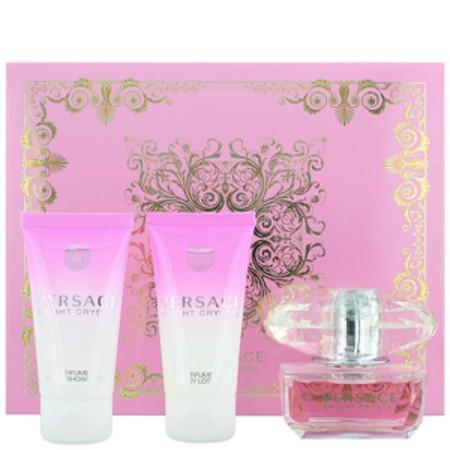 Versace Bright Crystal Eau de Toilette 50ml, Body Lotion 50ml and Bath and Shower Gel 50ml