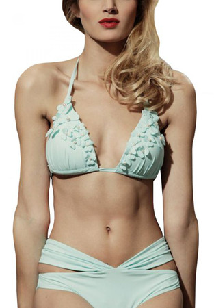 Almond Green Draped Bikini 4990