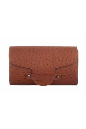Bond Street Imitation Ostrich Leather Clutch