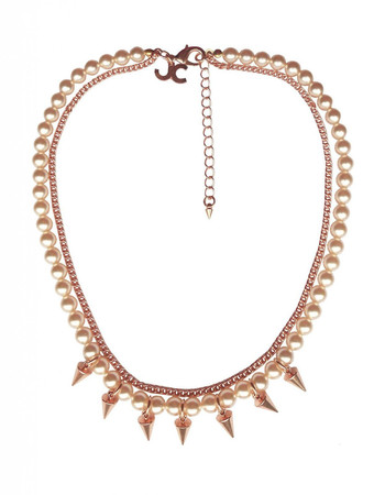 Brass Necklace with Spikes JCH6