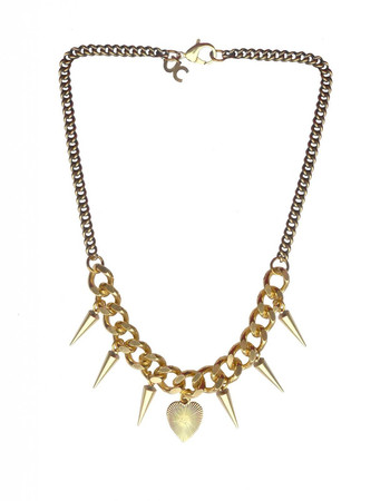Brass and Bronze Necklace with Spikes JCH13