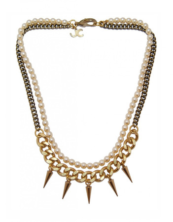 Bronze Brass Necklace with Spikes LOUXOR JCN6