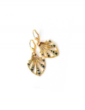 Earrings - Colette - night blue