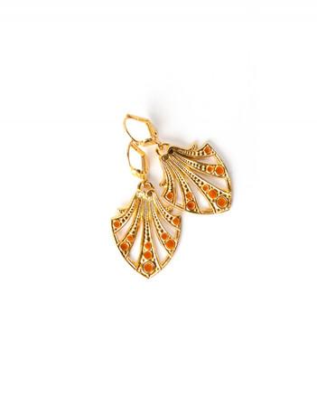 Earrings - Colette - saffron