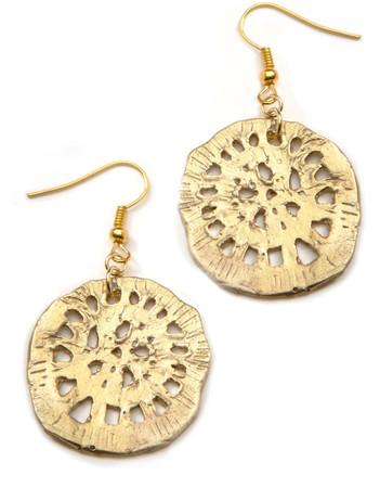 Earrings - Flora - Golden