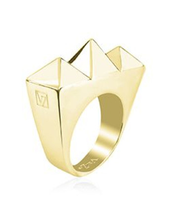 Golden Sterling silver ring Velizance - Tribus