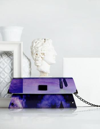 Handheld Clutch - Purple - 80's