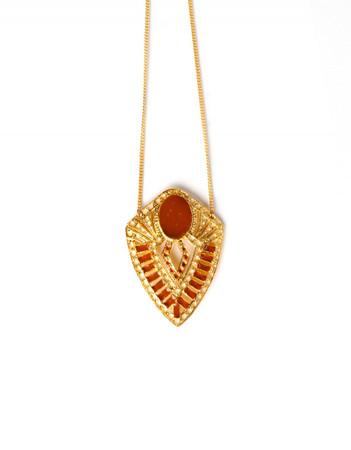 Long necklace - Joséphine B. - saffron
