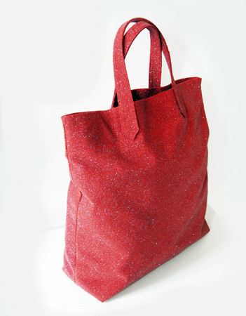 Maxi Bag - Suede Leather - Sparkling Red