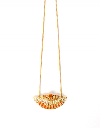 Necklace - Bérénice - saffron