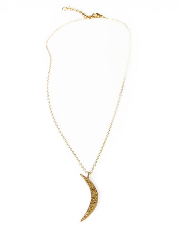 Necklace - Luna Crescent - golden