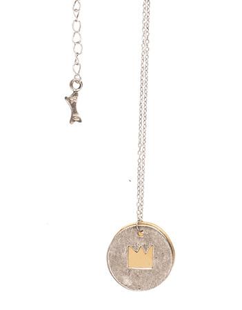 Necklace - Talisman Damoiselle - silvery
