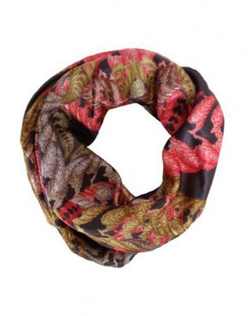 Printed Silk Scarf Fern