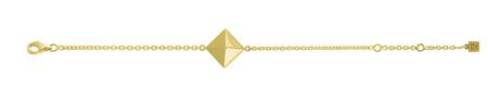 Silver Plated Gold Bracelet - Pyramidas