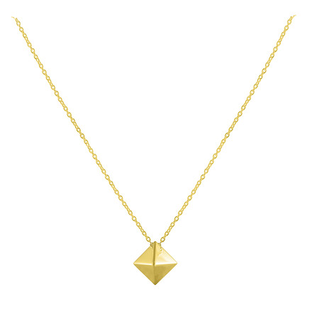 Silver Plated Gold Necklace - Pyramidas