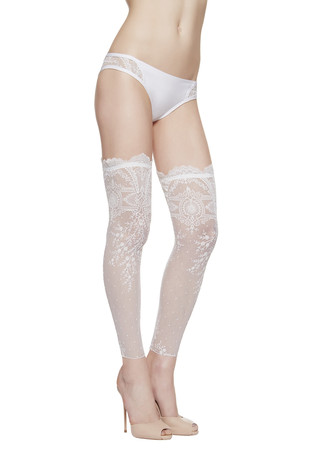 La Perla Neoprene Desire Footless Over-The-Knee Stockings
