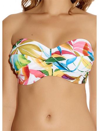 Fantasie Boca Chica White Bandeau Bikini Top