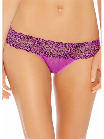 b.tempt'd Lace Kiss Dark Purple Brief