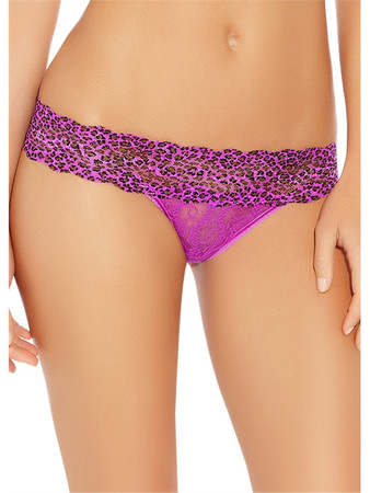 b.tempt'd Lace Kiss Dark Purple Thong