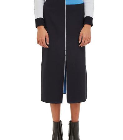 Bonded Bi-Colour Overlocked Seam Skirt