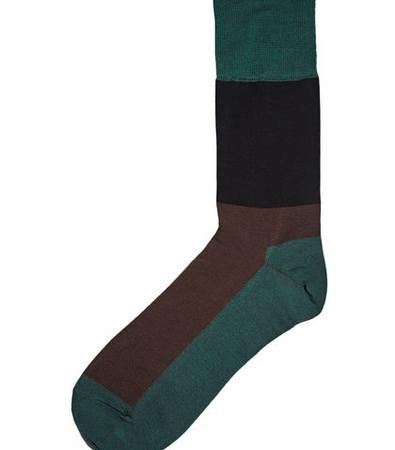 Colour Blocked Calf Length Socks