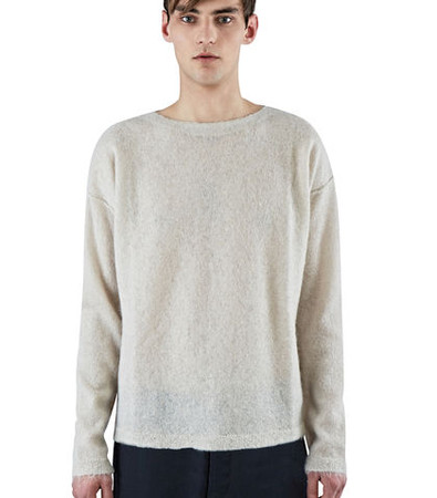 Hairy Mohair Knit Sweater