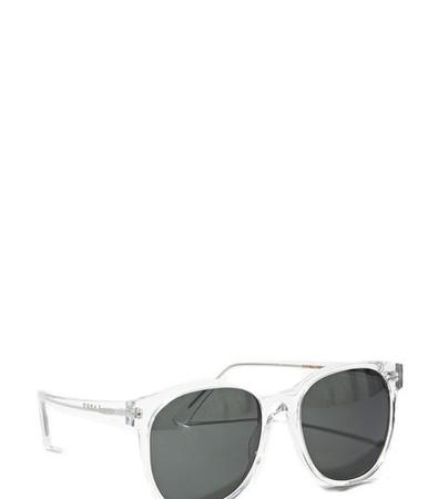 Larke Unisex Horne Clear Sunglasses