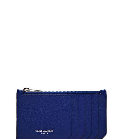Pre SS16: Saint Laurent Leather Zipped Card Wallet