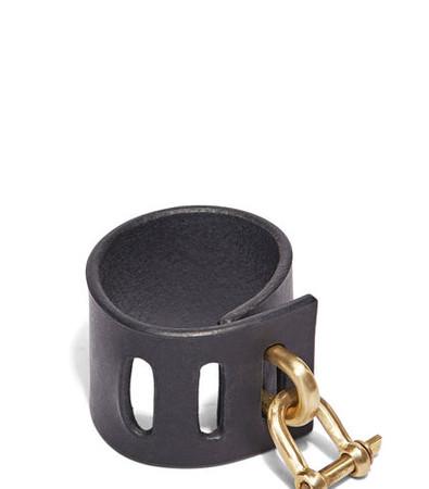 Restraint Leather Charm Bracelet