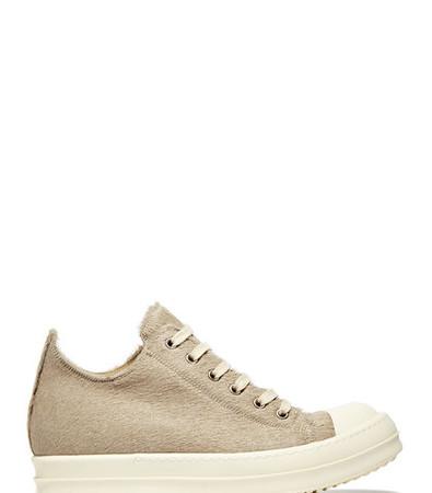 Rick Owens Low Pony Skin Sneakers