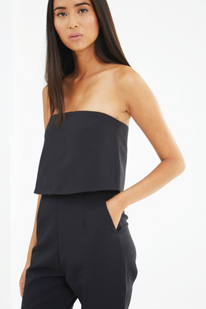 Lavish Alice Black Cross Back Column Maxi Dress