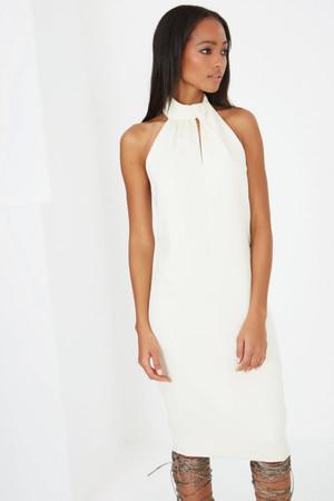 Lavish Alice Orange, Navy & White Stripe Print Tie Side Bikini Bottoms