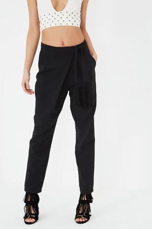 Lavish Alice Cream & Black Abstract Print Kick Flare Cropped Trousers