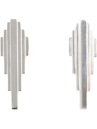 CLARICE PRICE THOMAS - Antumbra silver Lobe Earrings