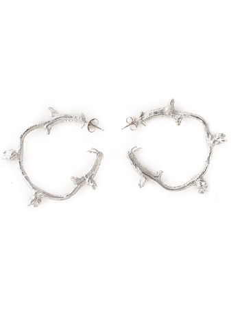 ROS MILLAR - Branch Hoop Earrings